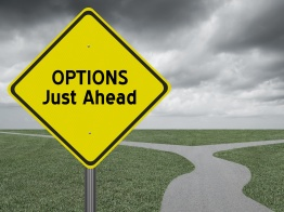 Options Just Ahead on Yellow Highway Sign